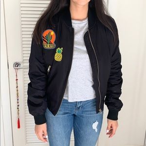 Topshop bomber jacket with patches